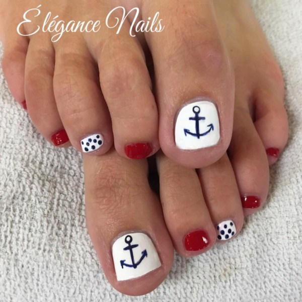 6 Tips Beautiful Summer Pedicure Toe Nail Design Styles Weekly