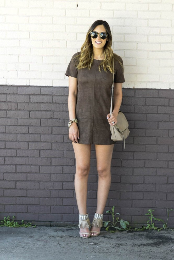 style the girl suede dress