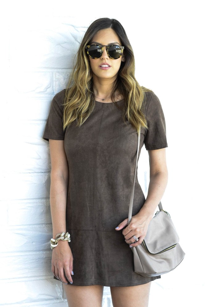 style the girl suede dress3