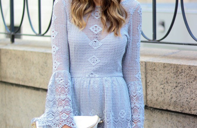 for love and lemons crochet bell sleeve dress