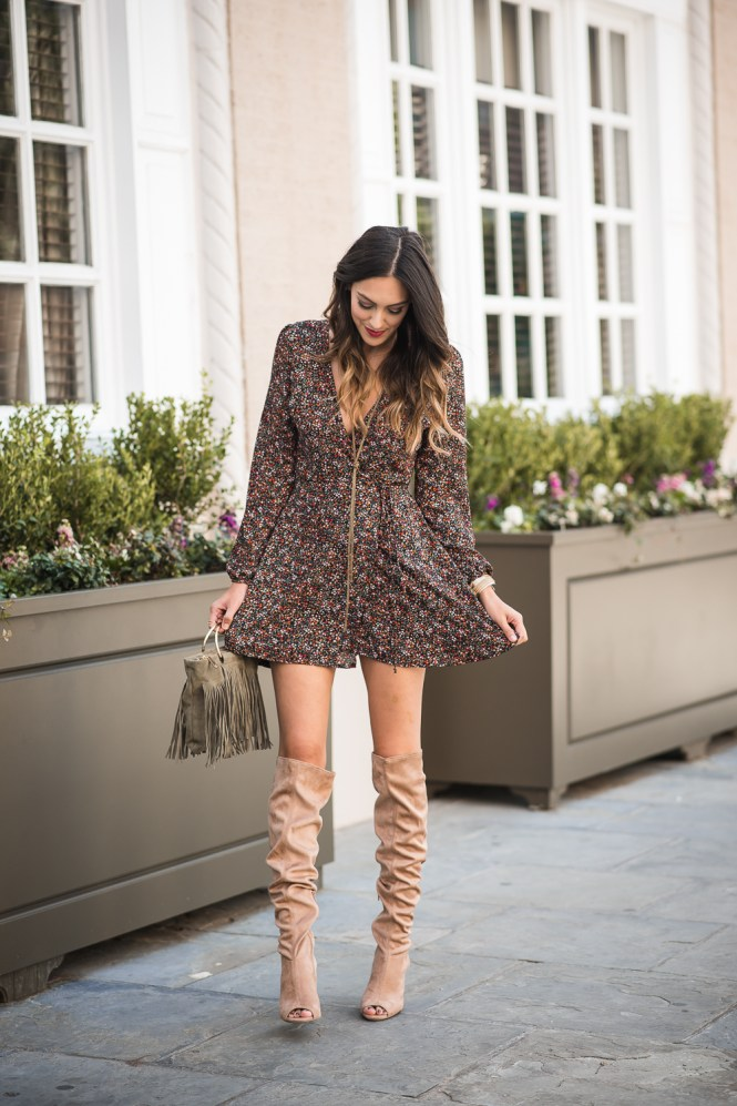 style the girl floral was dress and otk boots