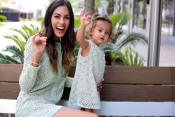 Style The Girl Mommy and Me Mint Dress