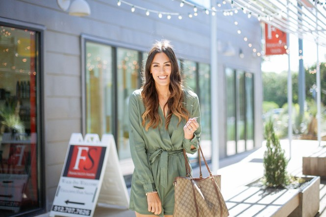 Style The Girl Long Sleeve Green Romper