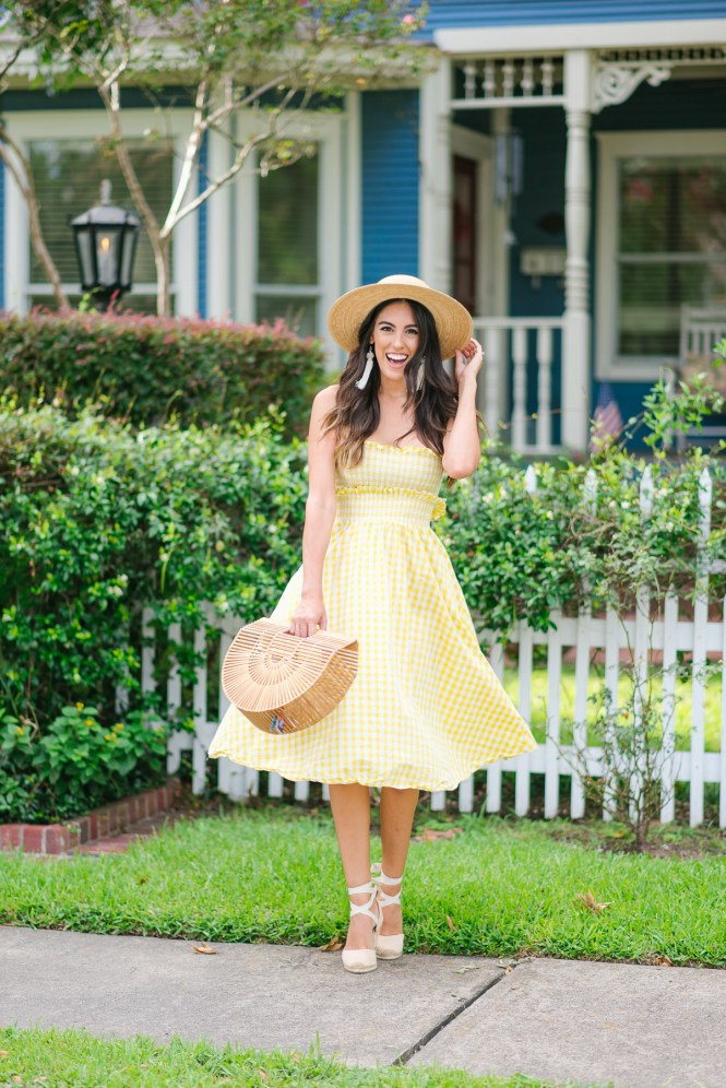 STYLE THE GIRL TWO PIECE YELLOW GINGHAM OUTFIT