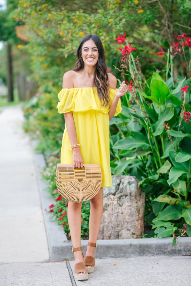 Style The Girl Yellow Off The Shoulder Dress