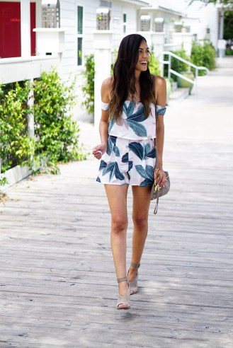 Style The Girl Palm Tree Romper