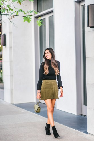 Style The Girl Corduroy Skirt and Turtleneck with Create and Cultivate