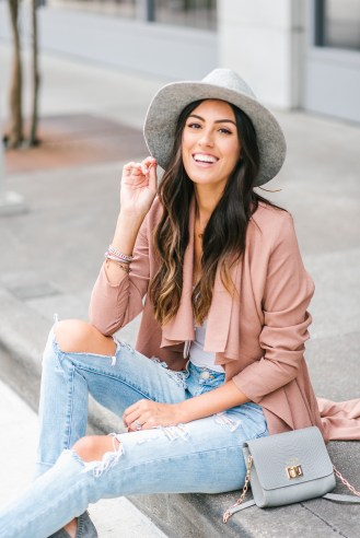 Style The Girl Blush Pink Duster