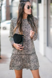 Style The Girl Leopard Dress and Moto Jacket