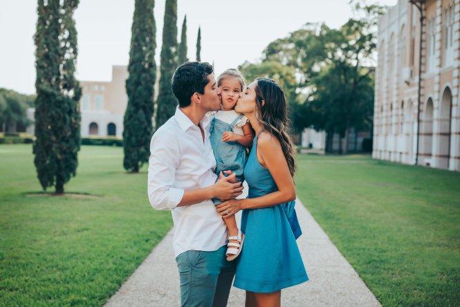 Family Photos at Rice University