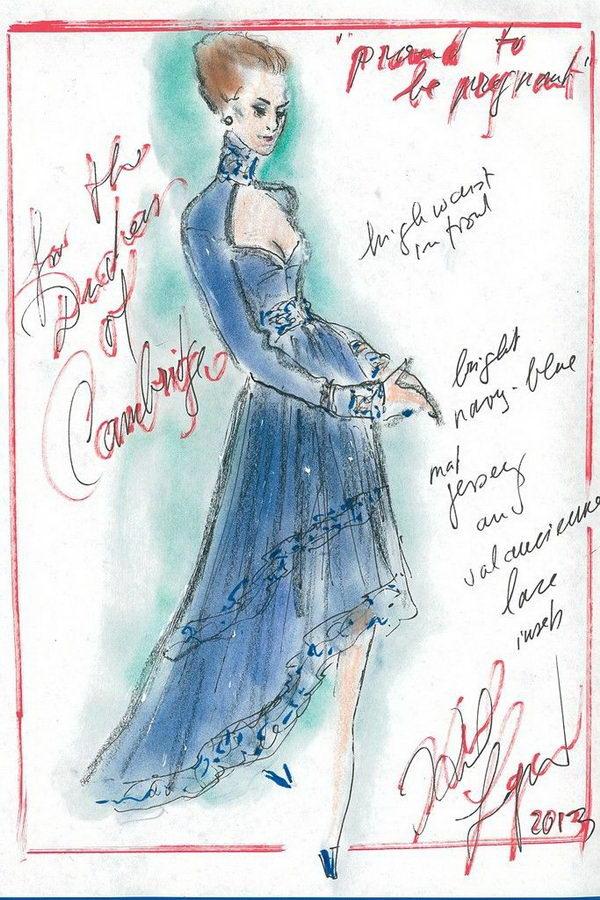 16 karl lagerfeld sketch - 30+ Cool Fashion Sketches
