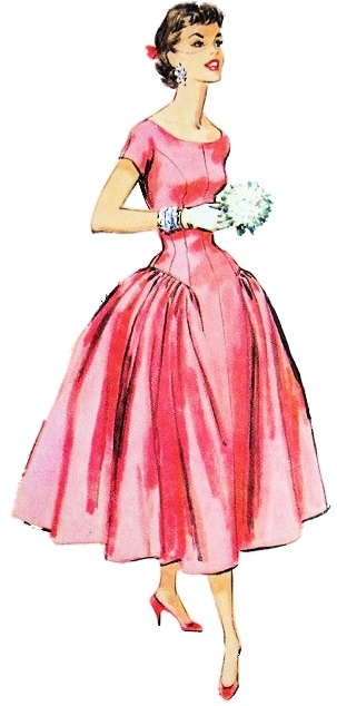 2 1950s fashion outfit sketch - 30+ Cool Fashion Sketches