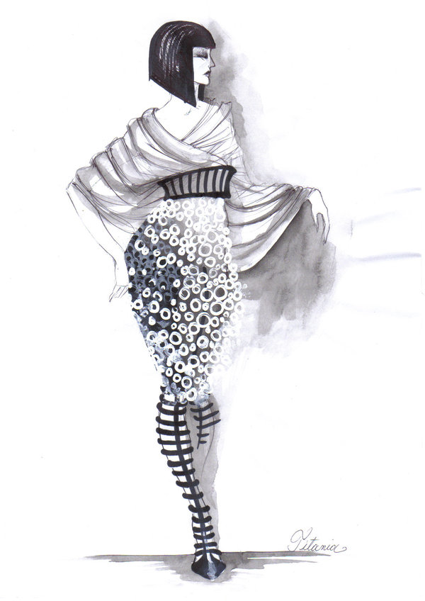 33 fashion sketches by elke ines szilier - 30+ Cool Fashion Sketches