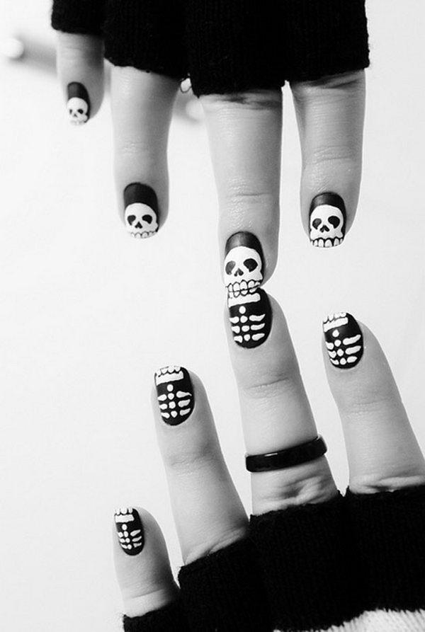 13 halloween nail art - 30 Cool Halloween Nail Art Ideas