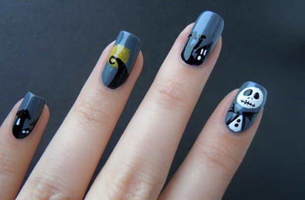 14 nightmare inspired nails - 30 Cool Halloween Nail Art Ideas