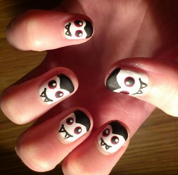 18 halloween nail - 30 Cool Halloween Nail Art Ideas