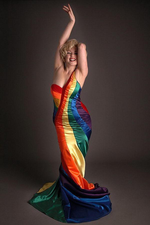 18 rainbow colored dress designs - 30 Gorgeous Rainbow Colored Dress Designs