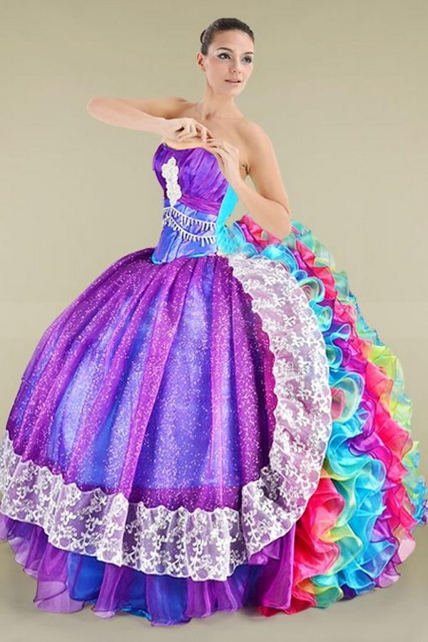 21 rainbow colored dress designs - 30 Gorgeous Rainbow Colored Dress Designs