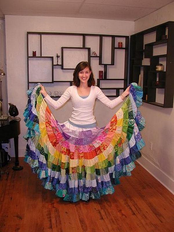 25 rainbow colored dress designs - 30 Gorgeous Rainbow Colored Dress Designs