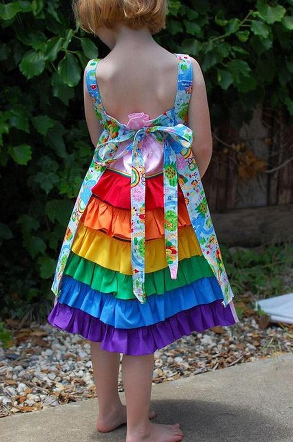 27 rainbow colored dress designs - 30 Gorgeous Rainbow Colored Dress Designs