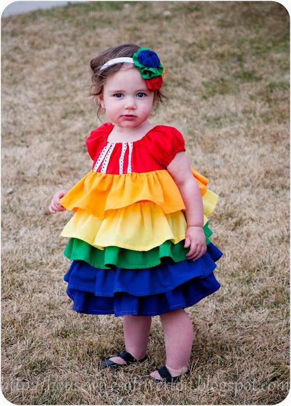 28 rainbow colored dress designs - 30 Gorgeous Rainbow Colored Dress Designs