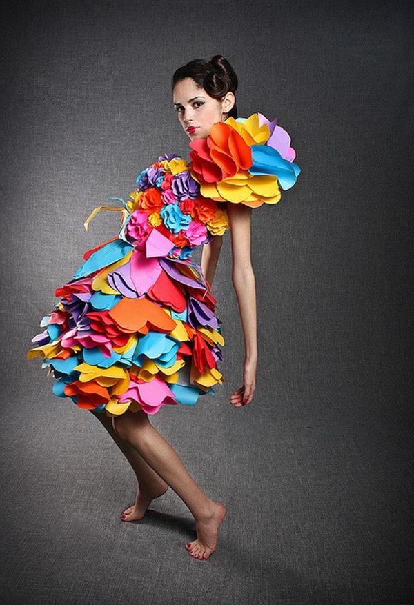 5 rainbow colored dress designs - 30 Gorgeous Rainbow Colored Dress Designs