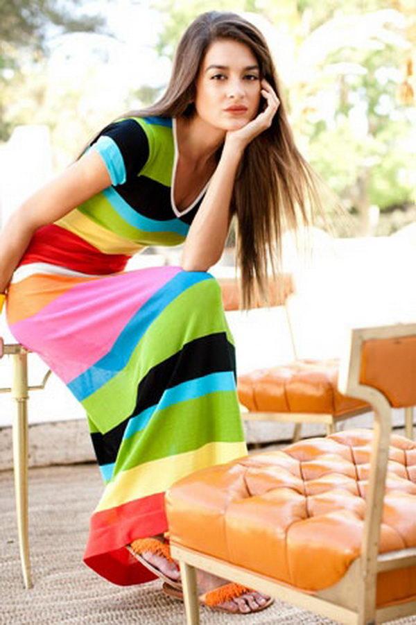 6 rainbow colored dress designs - 30 Gorgeous Rainbow Colored Dress Designs