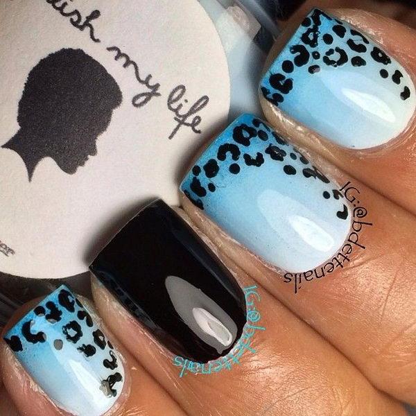 10 cheetah leopard nail designs - 15 Cheetah or Leopard Nail Designs