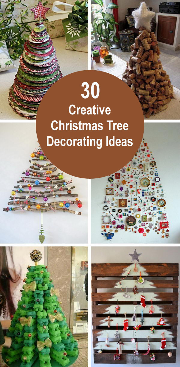 christmas tree decorating ideas - 30 Creative Christmas Tree Decorating Ideas
