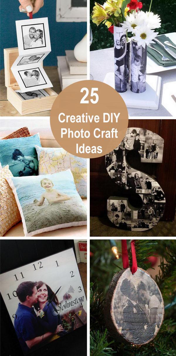 diy photo craft ideas - 25 Creative DIY Photo Craft Ideas