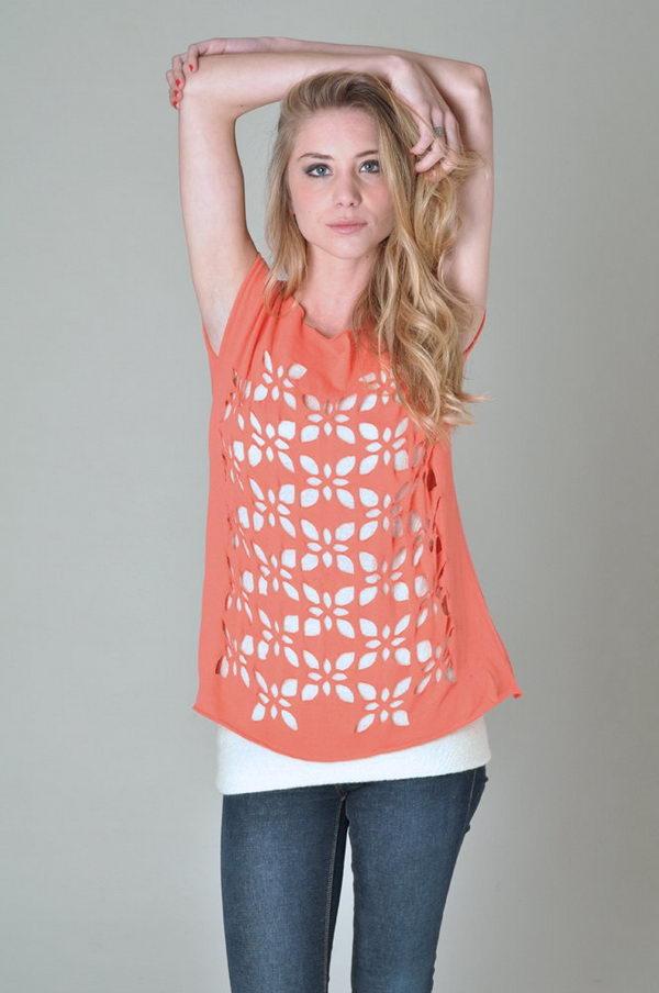 16 pink t shirt cutting for girls - 25 DIY T-Shirt Cutting Ideas for Girls