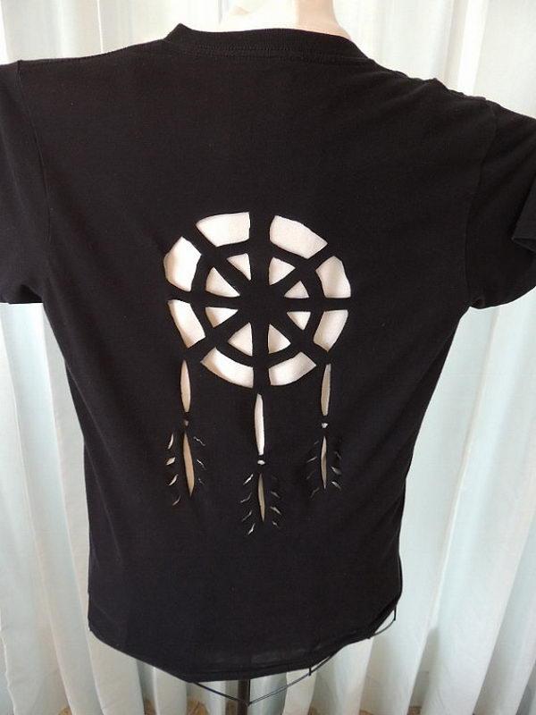 9 redesigned cut shirt - 25 DIY T-Shirt Cutting Ideas for Girls