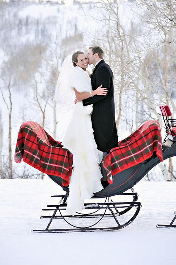 2 creative winter wedding ideas - 15 Creative Winter Wedding Ideas