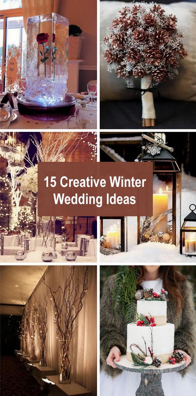 creative winter wedding ideas - 15 Creative Winter Wedding Ideas