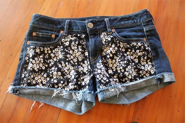 11 diy floral shorts - 20 Cool DIY Shorts Ideas for Girls