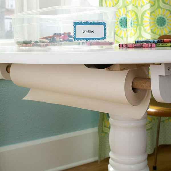 15 wrapping paper storage - Creative Wrapping Paper Storage Ideas