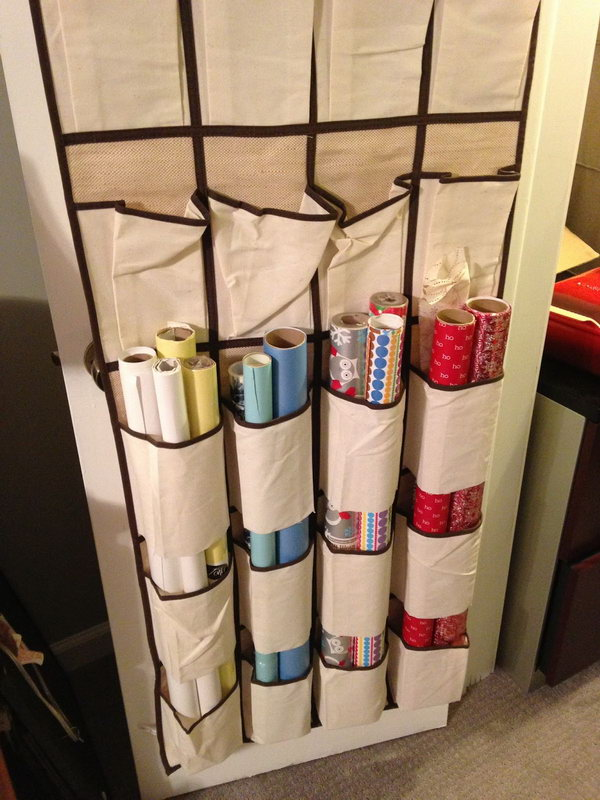 20 wrapping paper storage - Creative Wrapping Paper Storage Ideas