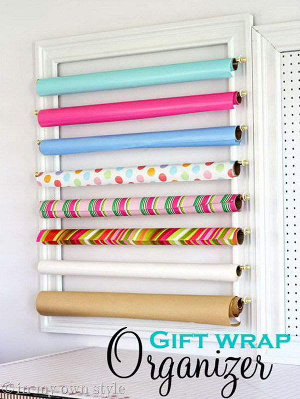 3 wrapping paper storage - Creative Wrapping Paper Storage Ideas
