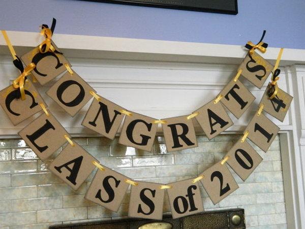 5 graduation party decoration ideas - 25 DIY Graduation Party Decoration Ideas