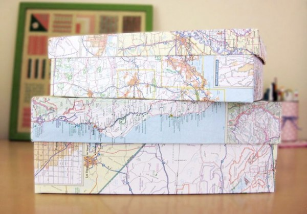 14 diy map projects - 25 Creative DIY Map Projects