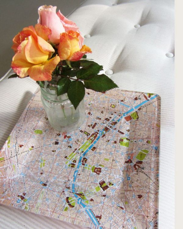 18 diy map projects - 25 Creative DIY Map Projects