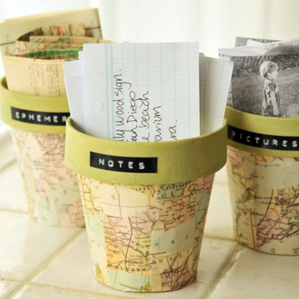 2 diy map projects - 25 Creative DIY Map Projects