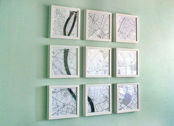 4 diy map projects - 25 Creative DIY Map Projects