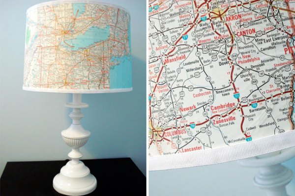 9 diy map projects - 25 Creative DIY Map Projects