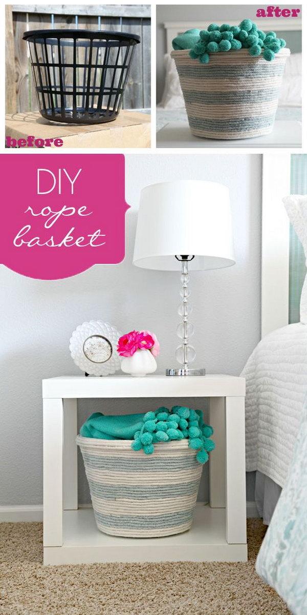 6 rope crafts - 25 DIY Rope Craft Ideas