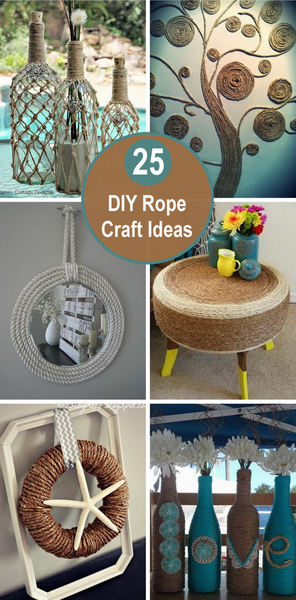 rope crafts - 25 DIY Rope Craft Ideas