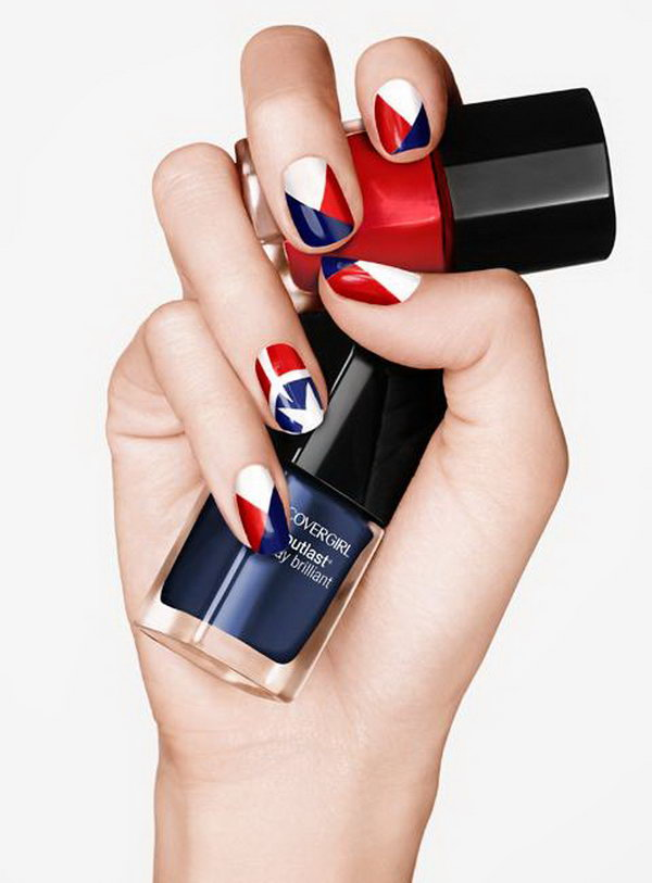 8 american flag stripes stars nails - 30+ American Flag Inspired Stripes and Stars Nail Ideas & Tutorials