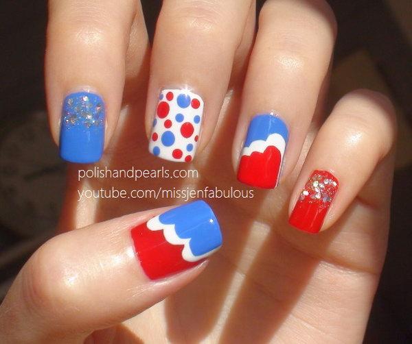 17 cute 4th of july patriotic nail art - 36 Cute 4th of July Patriotic Nail Art Ideas