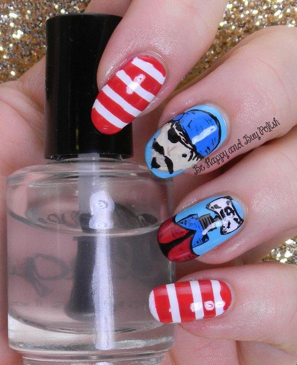 21 cute 4th of july patriotic nail art - 36 Cute 4th of July Patriotic Nail Art Ideas