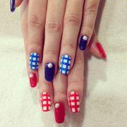 cute 4th of july patriotic nail